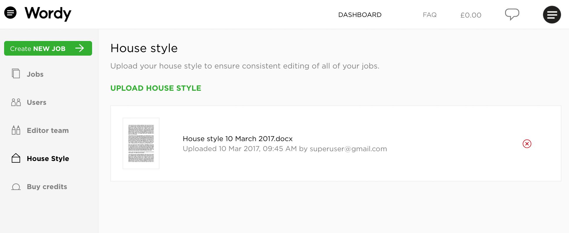 FAQ: House style