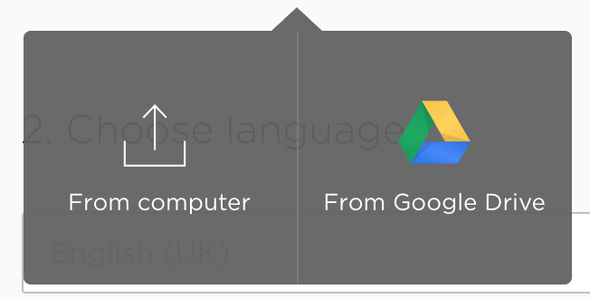 Google Docs proofreading – Google Docs picker